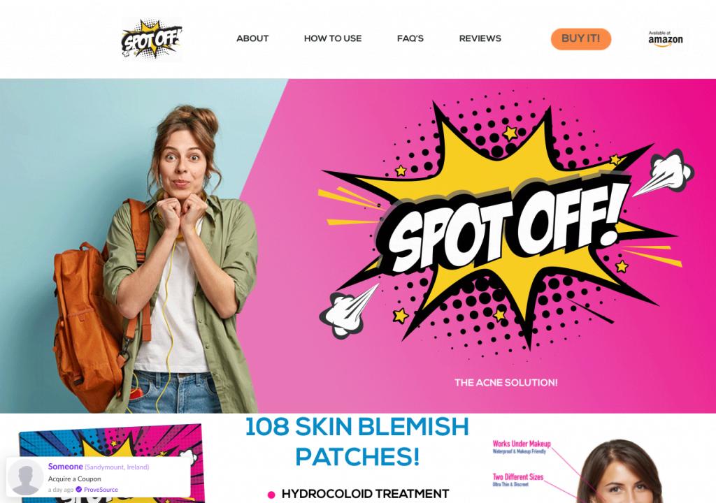 Spot Off ecommerce