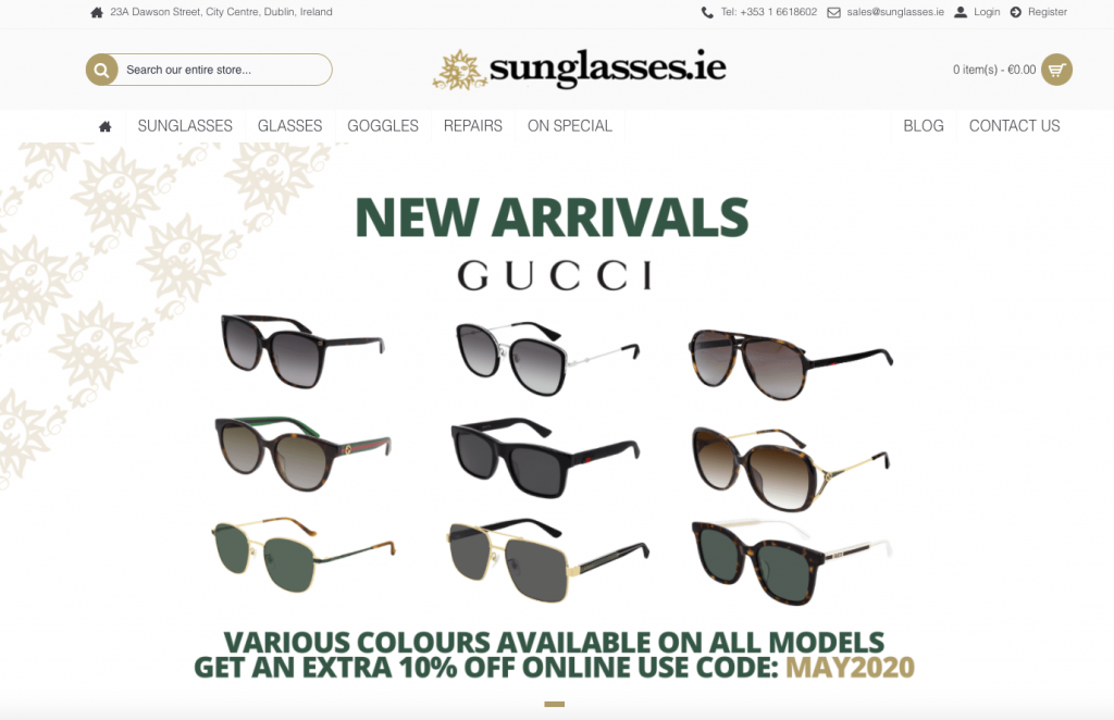 Sunglasses Ecommerce Site