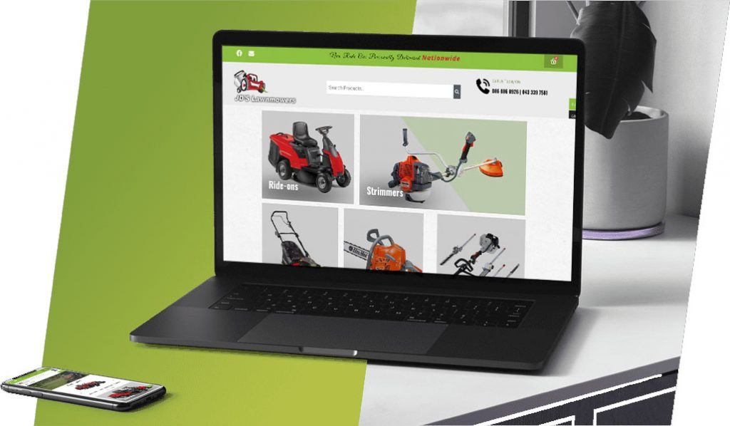 JDS Lawnmowers Responsive Website Design